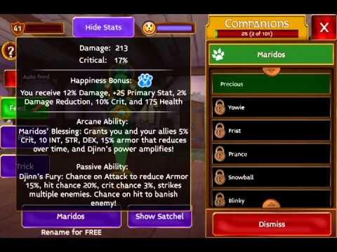 Arcane Legends New Pet Preview! Maridos The Djinn