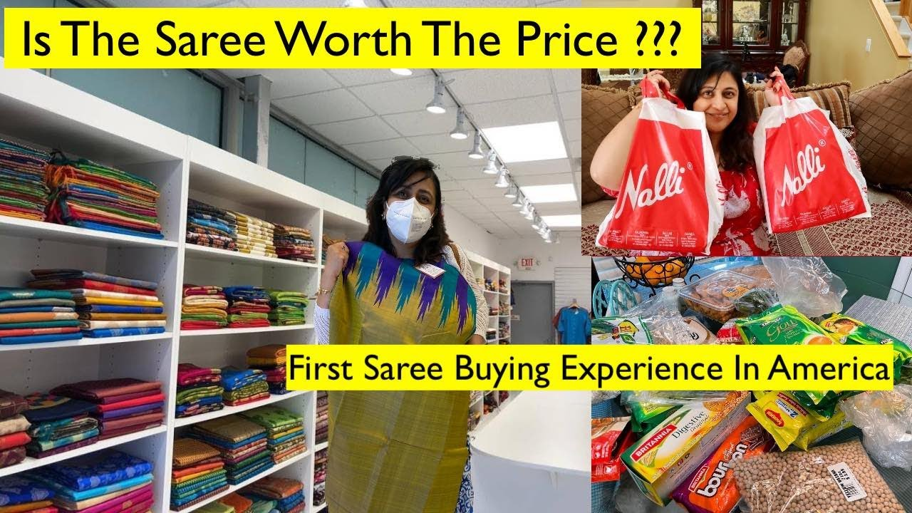 Download My First Saree From Nalli Store In America !!!   Shopping Vlog   Haul   Simple Living Wise Thinking