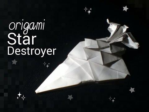 Origami Star Wars Imperial Star Destroyer tutorial (Neige A.)