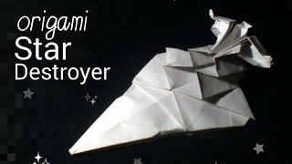 Origami Star Wars Imperial Star Destroyer tutorial (Neige A.)