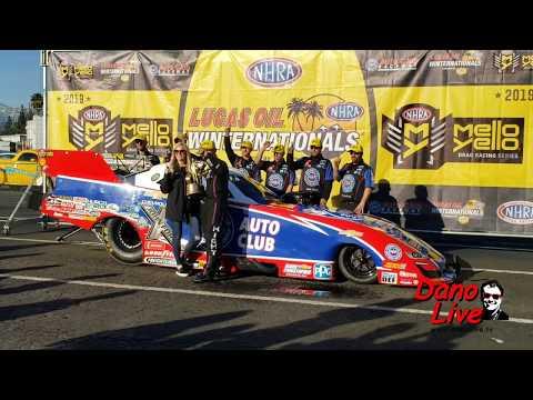 NHRA Winternationals John Force Racing Snippets on DAN-O-VISION...