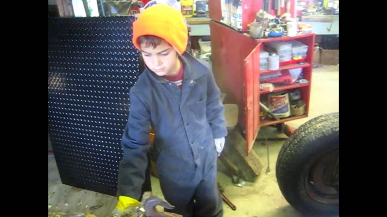 Wood splitter Change engine to 10 HP intek BRiggs - YouTube