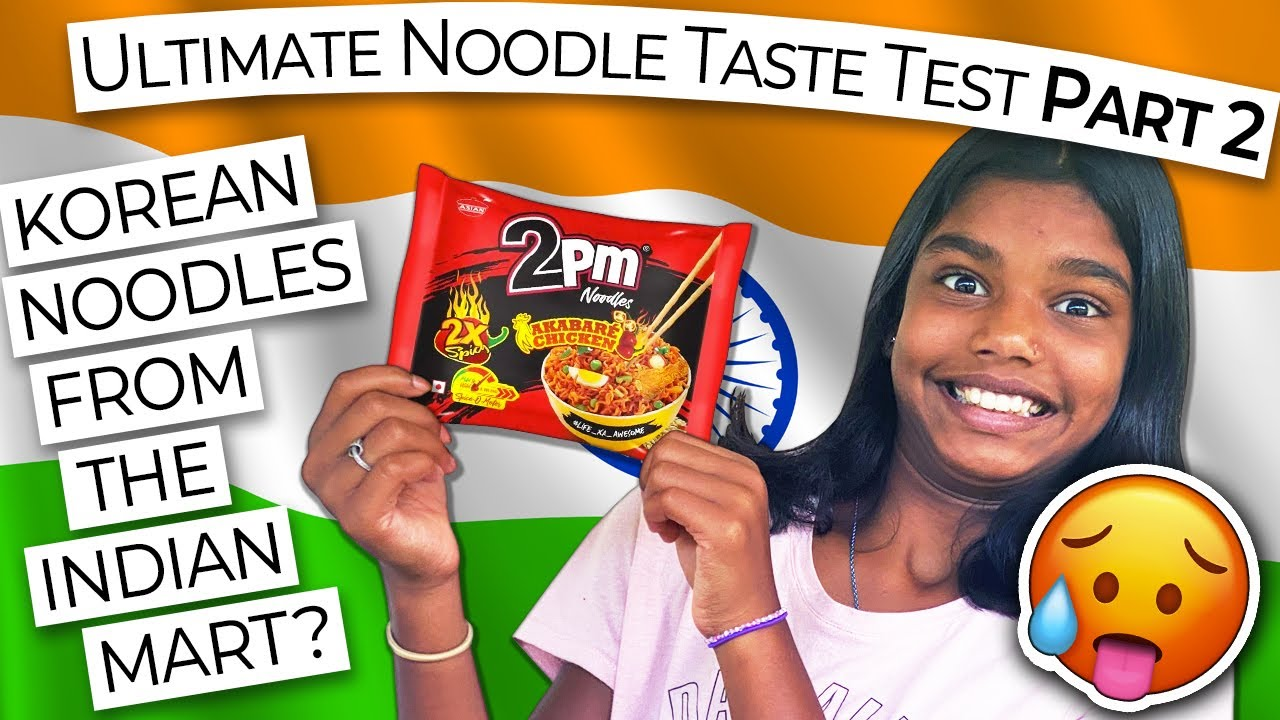 INDIAN FOOD TASTE TEST: Ultimate Noodle Challenge 🔥 PART 2 // 2 PM NOODLES from the Indian Mart?!