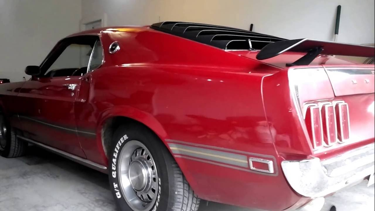mustang mach 1 1969 automatique vendre youtube. Black Bedroom Furniture Sets. Home Design Ideas