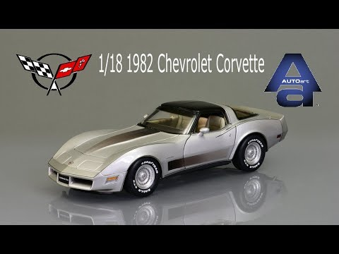 1/18 Autoart 1982 Chevrolet Corvette Collector Edition Diecast Model Car