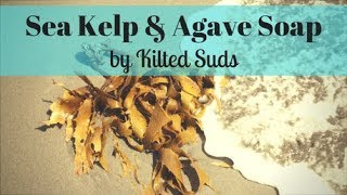 Sea Kelp & Agave Cold Process Soap | Kilted Suds | Mica Painting