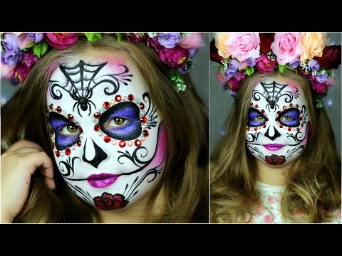 Sugar Skull Makeup For Kids Halloween Face Painting