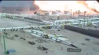 Rafineri Patlaması Anı - Dehşet Güvenlik Kamerası Görüntüleri