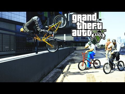 GTA 5 Epic BMX tricks montage #9 (Grinds transfer, Flip ,Spin, wallride)