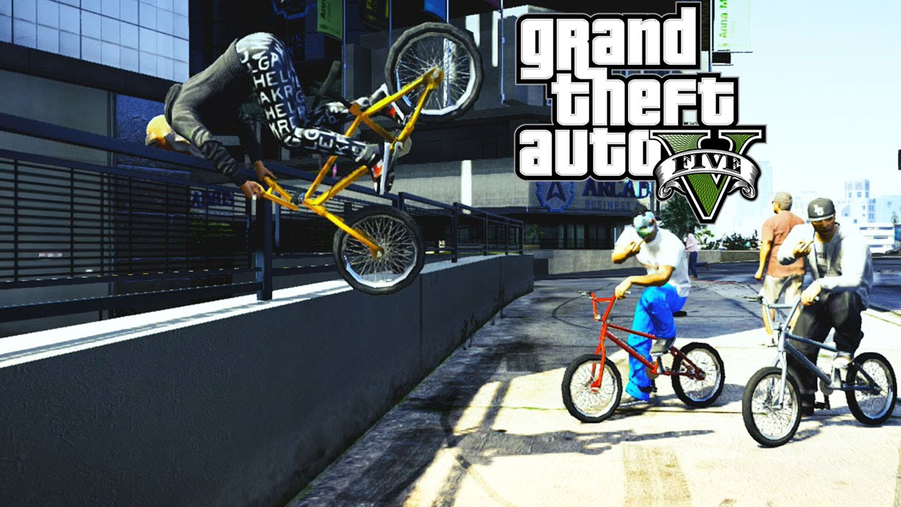 Stunt Wallpaper Hd Gta 5 Epic Bmx Tricks Montage 9 Grinds Transfer Flip