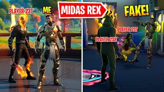 I Pretended To Be BOSS Midas Rex In Fortnite
