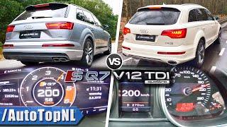 AUDI SQ7 V8 TDI vs Q7 V12 TDI   0-200km/h Acceleration & POV by AutoTopNL