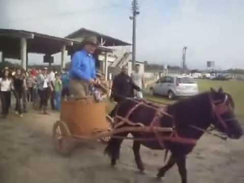 Monty Roberts Andando de Biga Romana no CTG Os Praianos sc