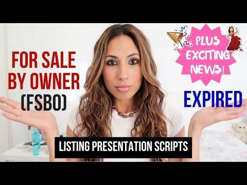 Listing Presentation Scripts for FSBO vs Expired vs Other
