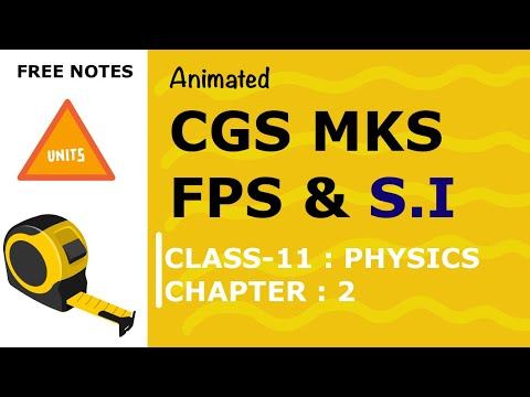 Physics class 11th : Units and Measurement - [ Part 1]