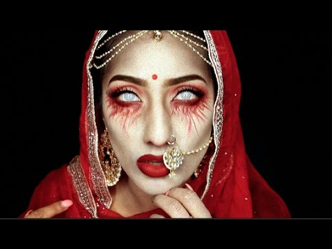 Halloween: Dead Indian Bride Makeup Tutorial | AnchalMUA - YouTube