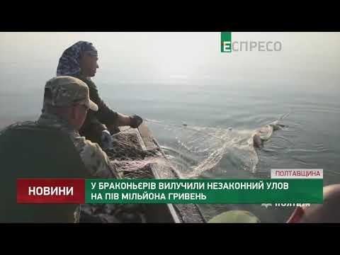 Espreso.TV: У браконьєрів вилучили незаконний улов на пів мільйона гривень