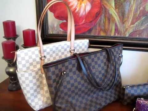 53cf1fc37201 Louis Vuitton Azur Totally MM versus Damier Neverfull MM - Handbag  comparison