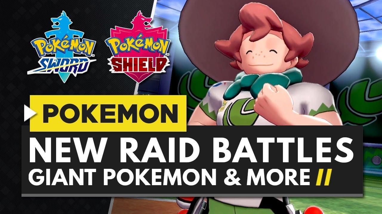 Pokemon Sword Shield Raid Battles 4 Player Co Op Giant Pokemon
