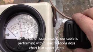 Antenna Basics - Checking RF coaxial cable loss with a wattmeter