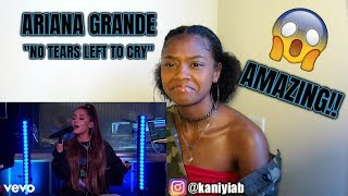 Ariana Grande - No Tears Left To Cry in the Live Lounge (REACTION)