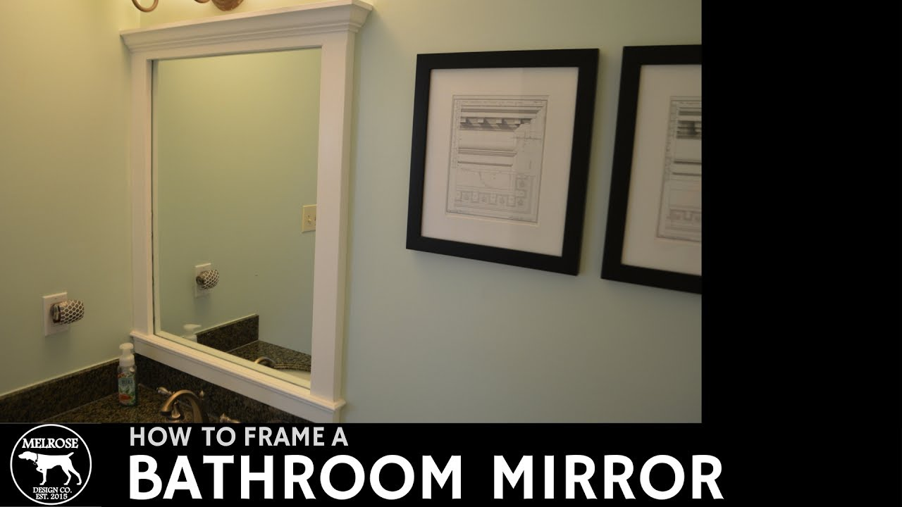 mirror and glass a to frame framing rooms wall step hgtv tape bathroom plate how bathrooms design position