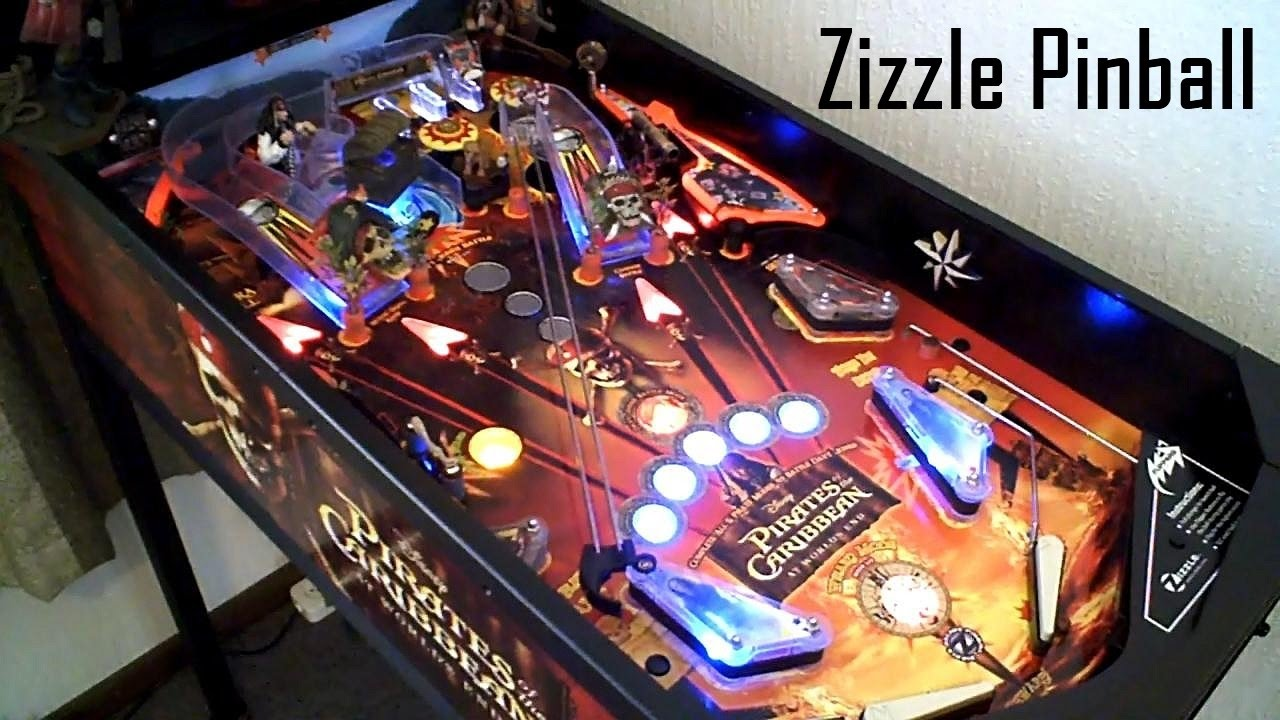 zizzle pinball gameplay - pirates of the caribbean