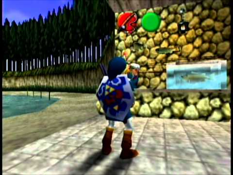 The Legend Of Zelda Ocarina Of Time - Getting The Sinking Lure - Full HD.wmv
