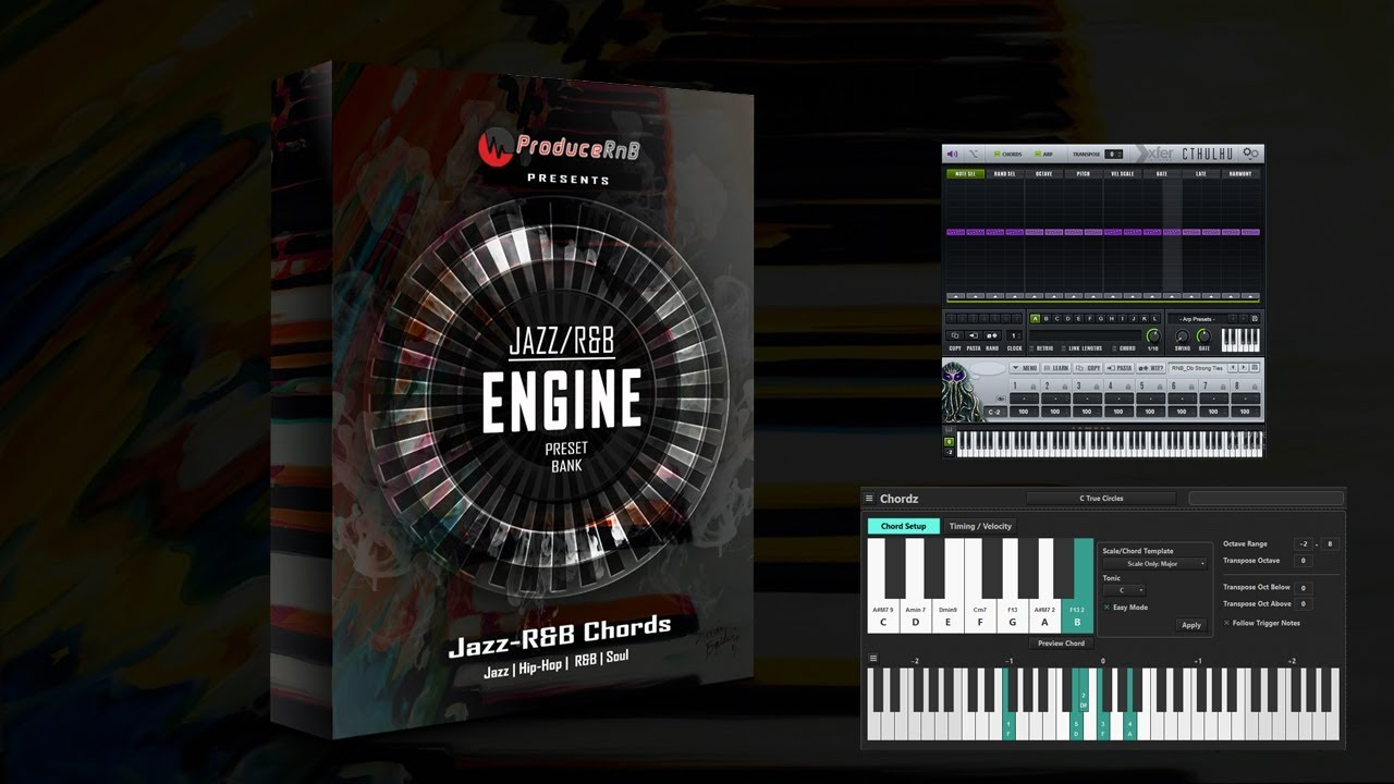 Jazz-R&B Chord Engine Presets w/Rhodes Piano VST