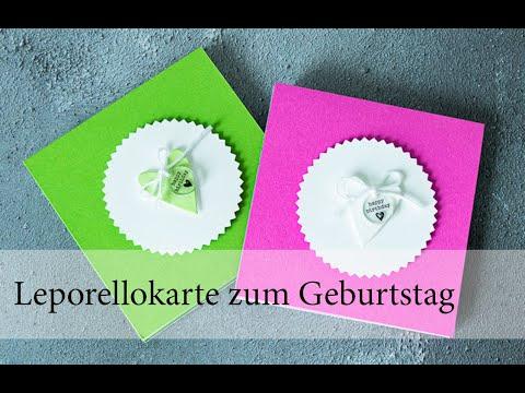 Leporellokarte zum Geburtstag
