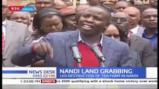 Nandi governor Stephen Sang has defended his action saying the land was grabbed