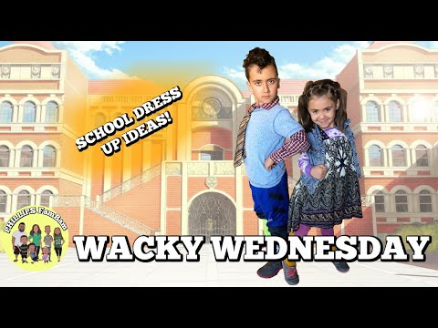 WACKY WEDNESDAY AT SCHOOL | KIDS DRESS UP IDEAS FOR SCHOOL