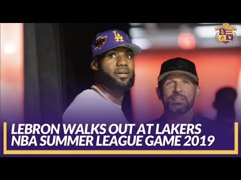 outlet store 5d8da 24485 Lakers Summer League: LeBron Talking w/ Assistant Coach Jason Kidd Walks  Out for Lakers First Game