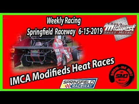 S03-E294 IMCA-Modifieds Heat Races Springfield Raceway 6-15-2019 #DirtTrackRacing
