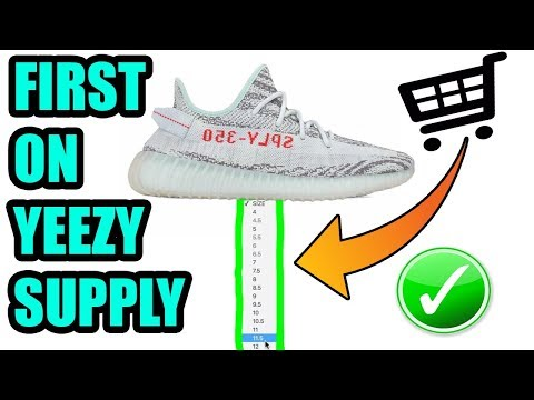 How to SECURE YOUR BLUE TINT YEEZYS On YEEZY SUPPLY ! What TIME Will The BLUE TINTS Drop ?