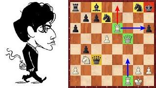 Шахматы. Михаил Таль атакует Роберта Фишера в староиндийской защите!