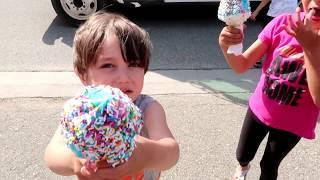 Kids Buy Ice Cream from the Ice Cream Truck four