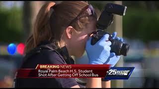 Royal Palm Beach High School student shot after getting off school bus