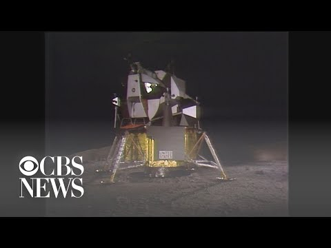 Watch The Moment Men First Landed On The Moon