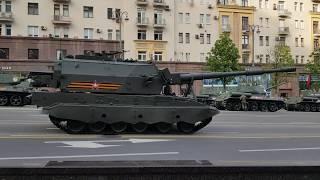 Военная техника. Репетиция парада в Москве. Тверская улица. 17 июня 2020 г.