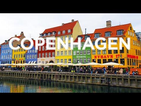 Flying over Copenhagen, Denmark in 4K with relaxing music