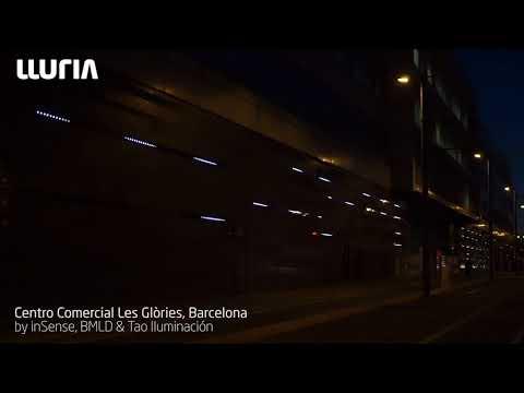 Iluminación Dinámica de la Fachada del Centro Comercial Les Glòries - Barcelona