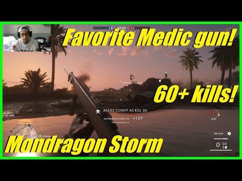 Battlefield 1 - My favorite medic gun! | Mondragon Storm! | Fao Fortress conquest (60+ kills)