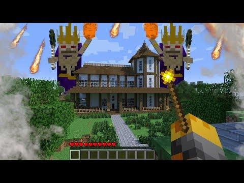 Minecraft GIANT BOSS SKELETON APPEARS IN MY MINECRAFT HOUSE !! Minecraft Boss Battle thumbnail