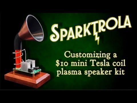Sparktrola - A Teeny Tiny Tesla Coil Plasma Speaker Kit