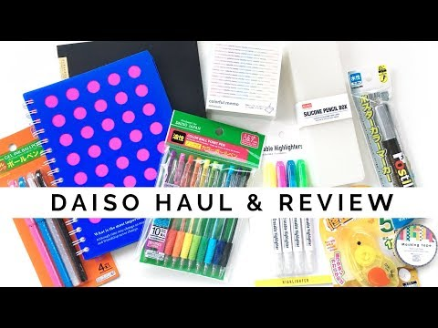 Daiso Stationery Haul & Review