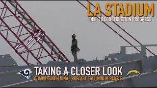 Rams Chargers LA Stadium | Exclusive Up Close Construction Tour Dec '18