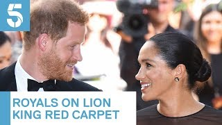 Meghan Markle and Prince Harry meet Beyonce and Jay-Z at Lion King premiere | 5 News