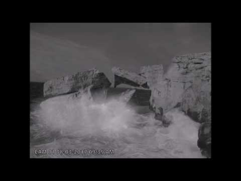 EXCLUSIVE: CCTV footage of Azure Window collapsing