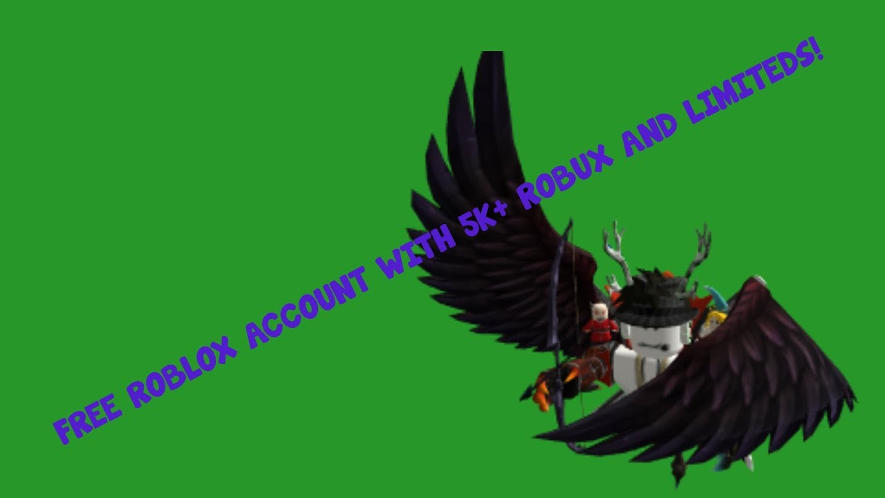 FREE ROBLOX ACCOUNTS WITH ROBUX 2018
